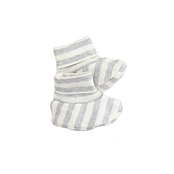 Baby booties in stripe