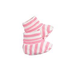 Baby booties in stripe