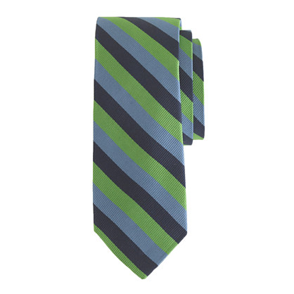Boys' silk tie in multistripe