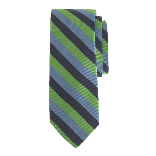 Boys' silk tie in multistripe