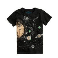 Boys' glow-in-the-dark solar system tee