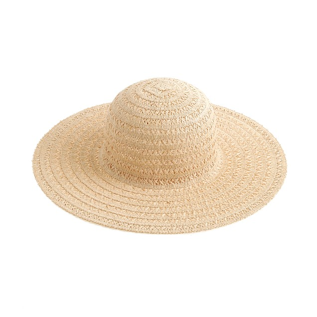 Airy summer straw hat