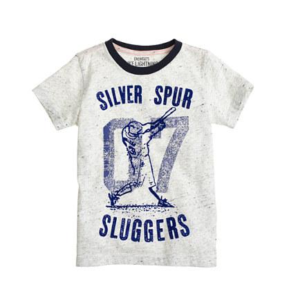 Boys' silver spurs tee