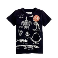 Boys' glow-in-the-dark skeleton tee
