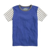 Boys' ringer tee in stripe sleeve