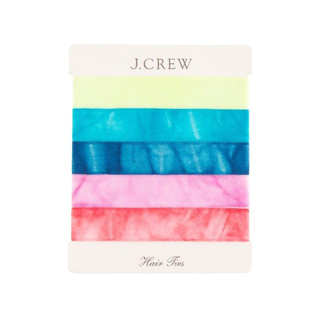 Tie-dyed elastic hair tie pack