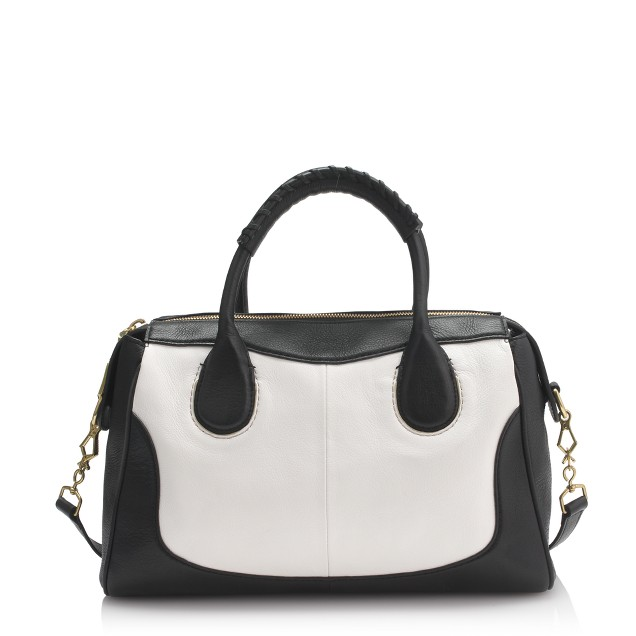 Kirby satchel in two-tone