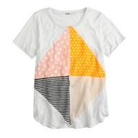 Linen diamond T-shirt