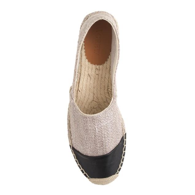 Shimmer cap toe espadrilles
