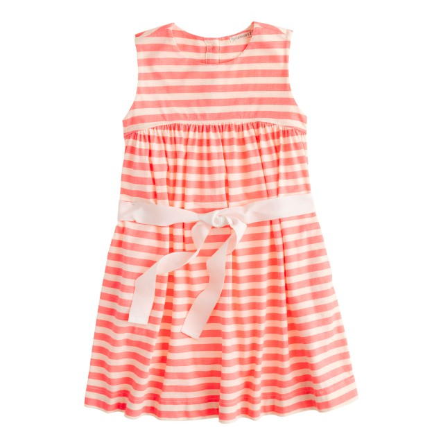 Girls' neon-stripe tankdress
