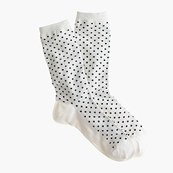 Dotted trouser socks