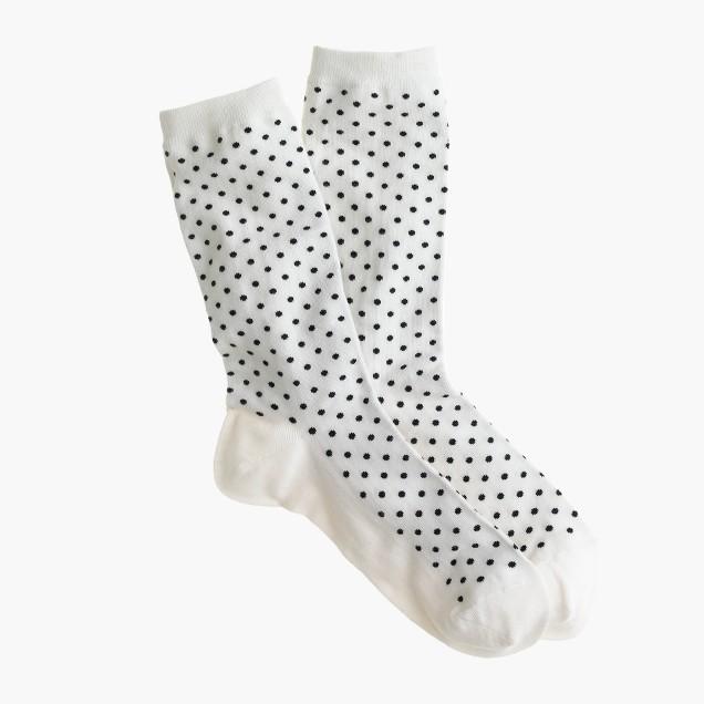 Dotted trouser socks