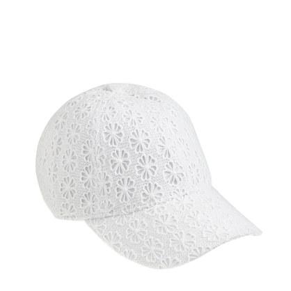 Eyelet baseball cap