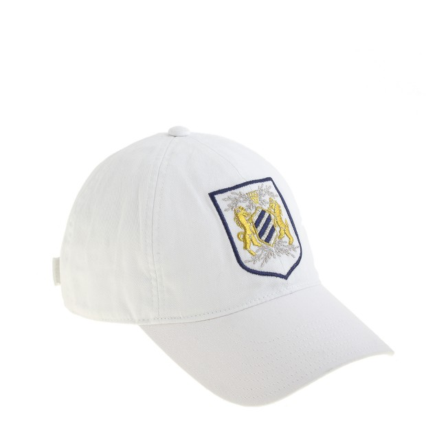 Cotton twill embroidered crest baseball cap