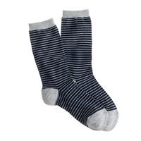 Navy stripe trouser socks