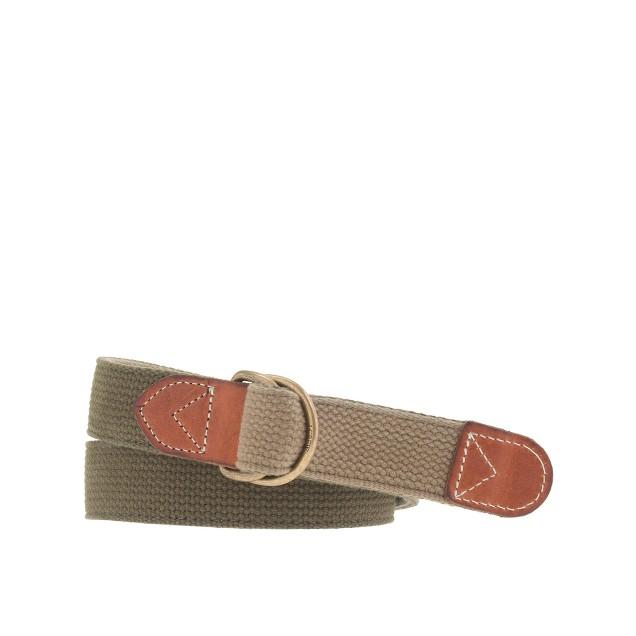 Reversible web belt