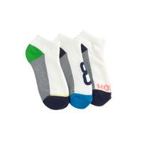 Boys' ankle socks three-pack in home run