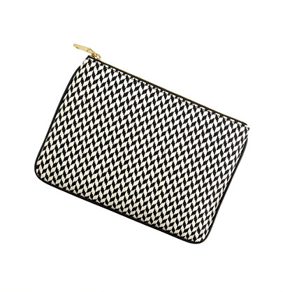 Leather-trim pouch