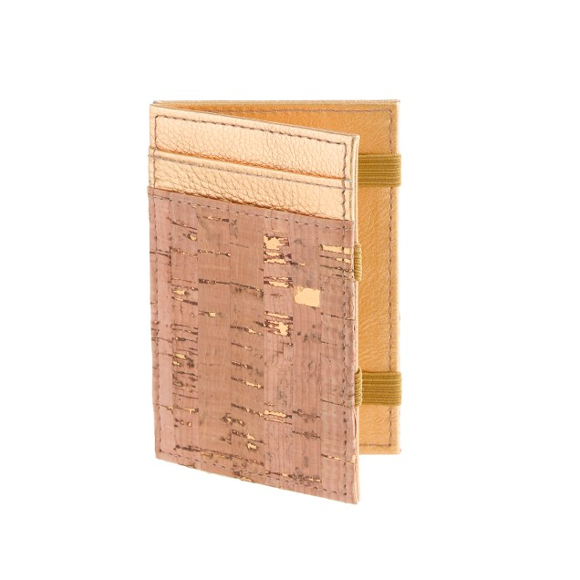 Cork magic wallet