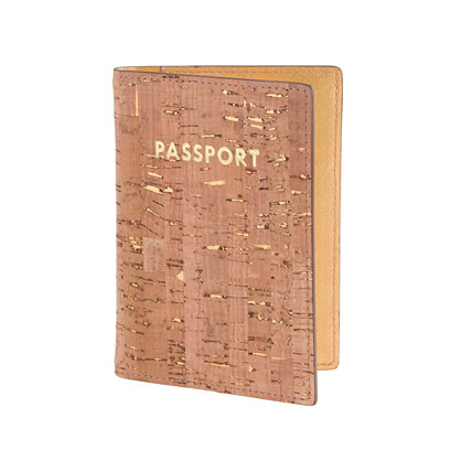 Cork passport case