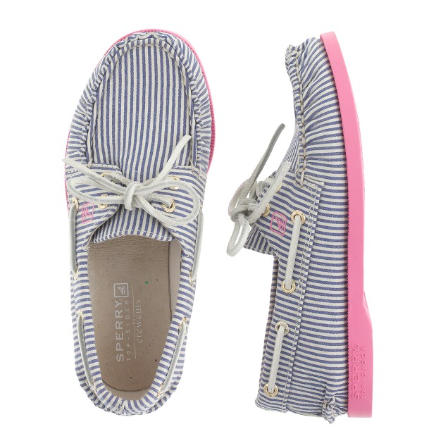 Girls' Sperry Top-Sider® for J.Crew Authentic Original 2-eye boat shoes in stripe