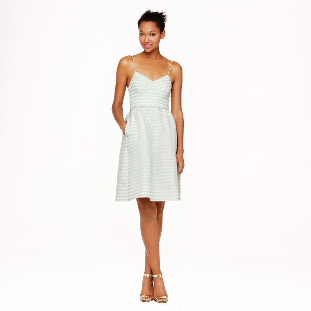 Cameron dress in stripe silk organza