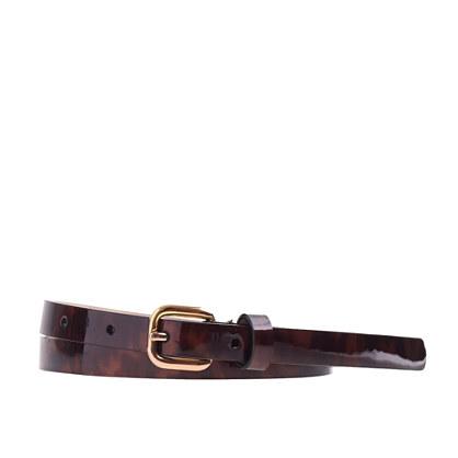 Patent leather tortoise belt