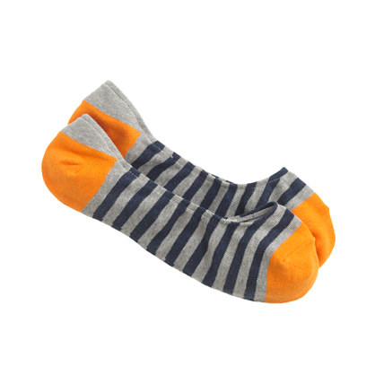 No-show socks in stripe