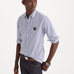 PLAY Comme des Gar�ons® button-down shirt in stripe