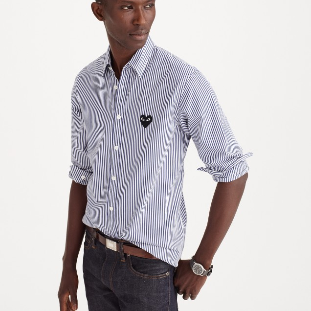 PLAY Comme des Garçons® button-down shirt in stripe