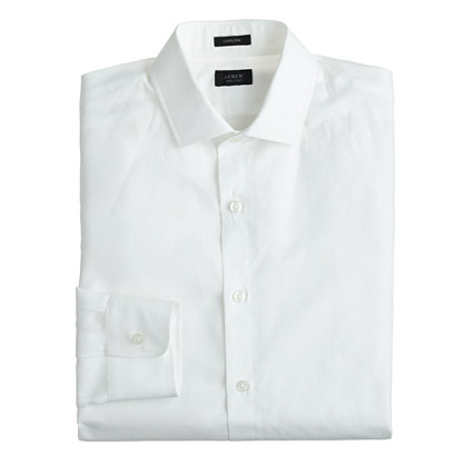 Ludlow spread-collar shirt in cotton-linen