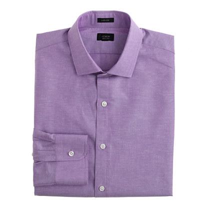Ludlow spread-collar shirt in cotton-linen