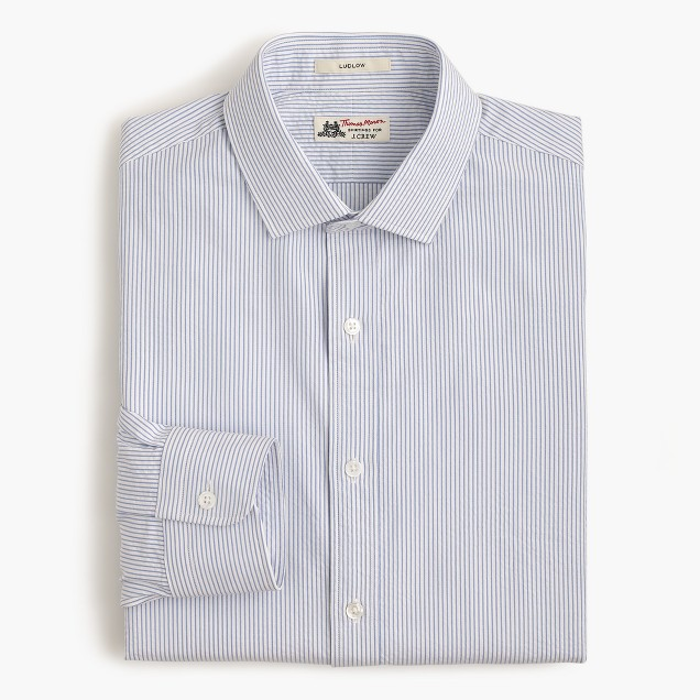 Thomas Mason® for J.Crew Ludlow shirt in rustic blue seersucker