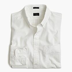 Slim seersucker striped shirt