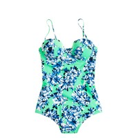 Photo floral underwire one-piece swimsuit