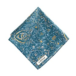 The Hill-side® cotton-linen pocket square in victorian paisley