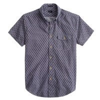 Short-sleeve shirt in diamond floral