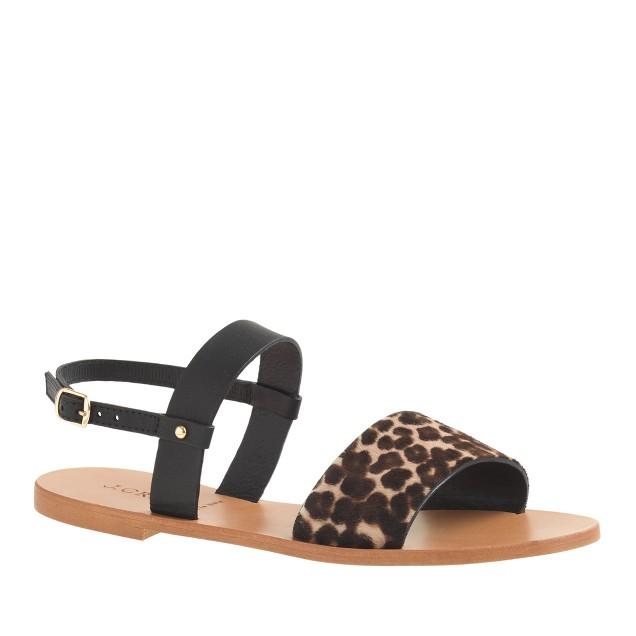 Camden calf hair sandals