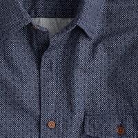Secret Wash Japanese cotton shirt in circular dot print