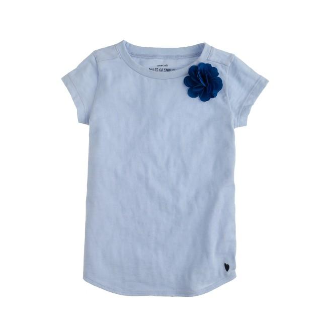 Girls' corsage T-shirt