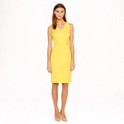 Seamed stretch cotton dress