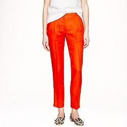 Petite slim linen trouser