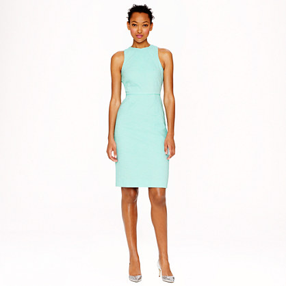 Matelassé sheath dress