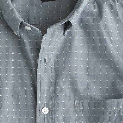 Slim Secret Wash shirt in woven diamonds