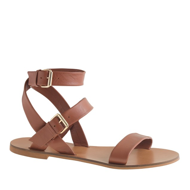 Leila ankle-wrap sandals