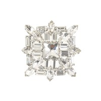 Jeweled cluster brooch