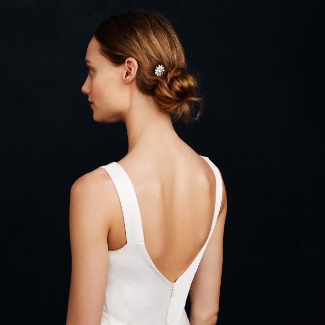 Jeweled daisy hairpin