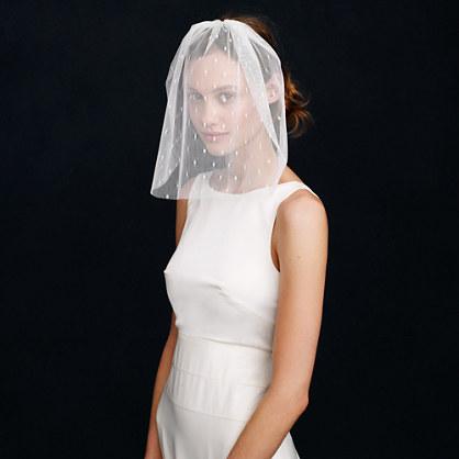 Short tulle veil