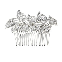 Jeweled leaves comb