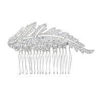 Jeweled leaf comb